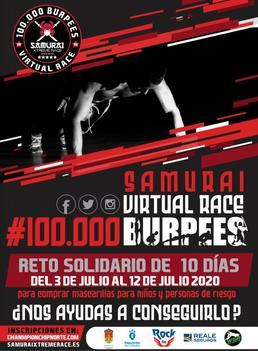 SAMURAI VIRTUAL RACE 2020 #100.000burpees