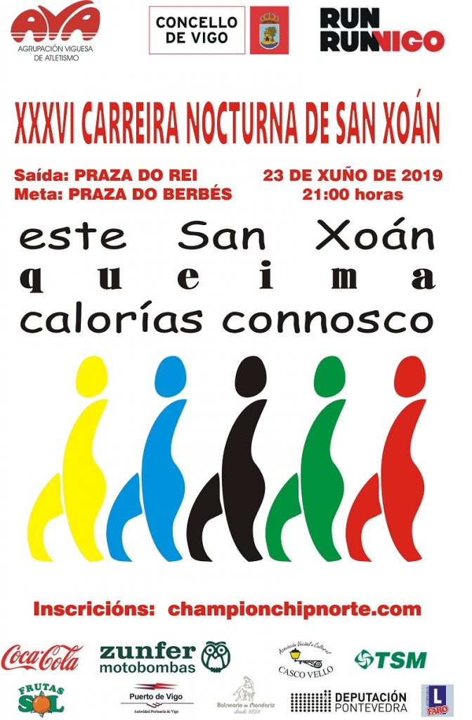 cdaee7da4e Evento: XXXVI CARREIRA NOCTURNA DE SAN XOÁN (Vigo) - Champion Chip Norte